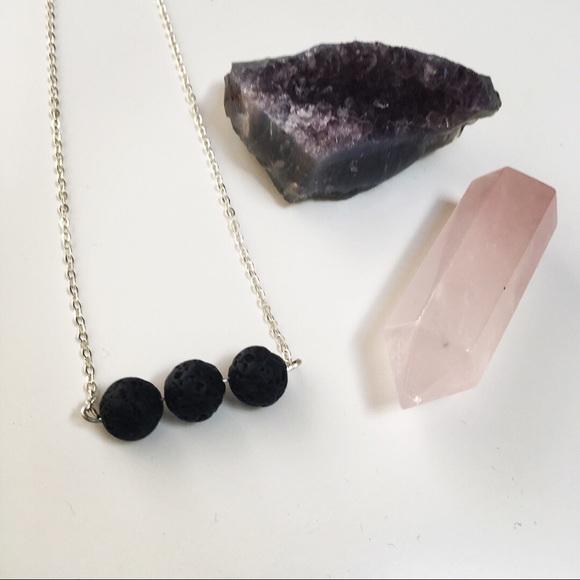 Jewelry - 3 Lava Bead Essential Oil Diffuser Necklace